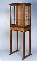willow showcase cabinet with marquetry  by Matthew Werner