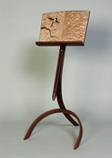 music stand with marquetry  by Matthew Werner