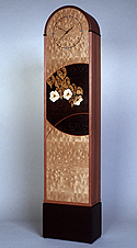 grandmother clock with marquetry  by Matthew Werner